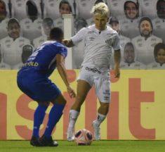 Santos sai atrás, mas busca empate contra o Santo André na volta do Paulistão
