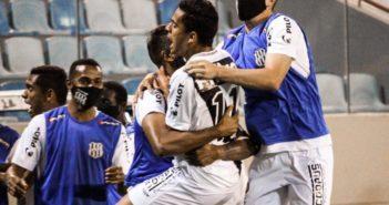 Ponte Preta vence Novorizontino - Bruno Rodrigues comemora o seu gol na partida válida pelo Campeonato Paulista contra o Novorizontino