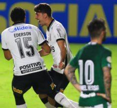 Corinthians marca nos acréscimos e vence o Goiás fora de casa