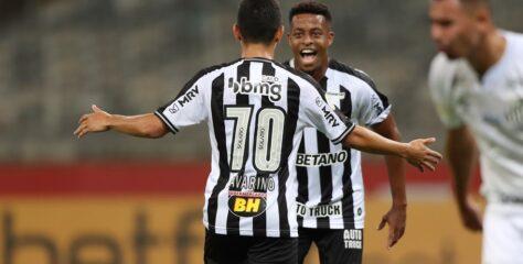Atlético Mineiro aproveita time alternativo do Santos