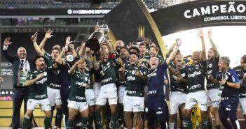 Palmeiras comemora o título da Libertadores — Foto- Andre Durão