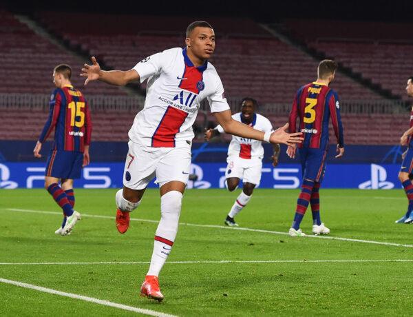 Mbappé brilha e PSG goleia Barcelona no Camp Nou pela Liga dos Campeões