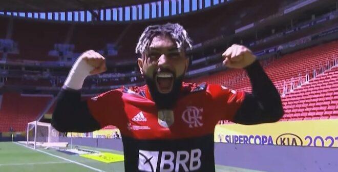 Gabriel Barbosa, atacante do Flamengo - Imagem: Divulgação