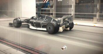 Túnel de vento na F1 - Imagem: Divulgação