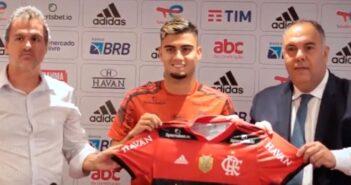 Andreas Pereira, meio-campista do Flamengo - Imagem: Divulgação